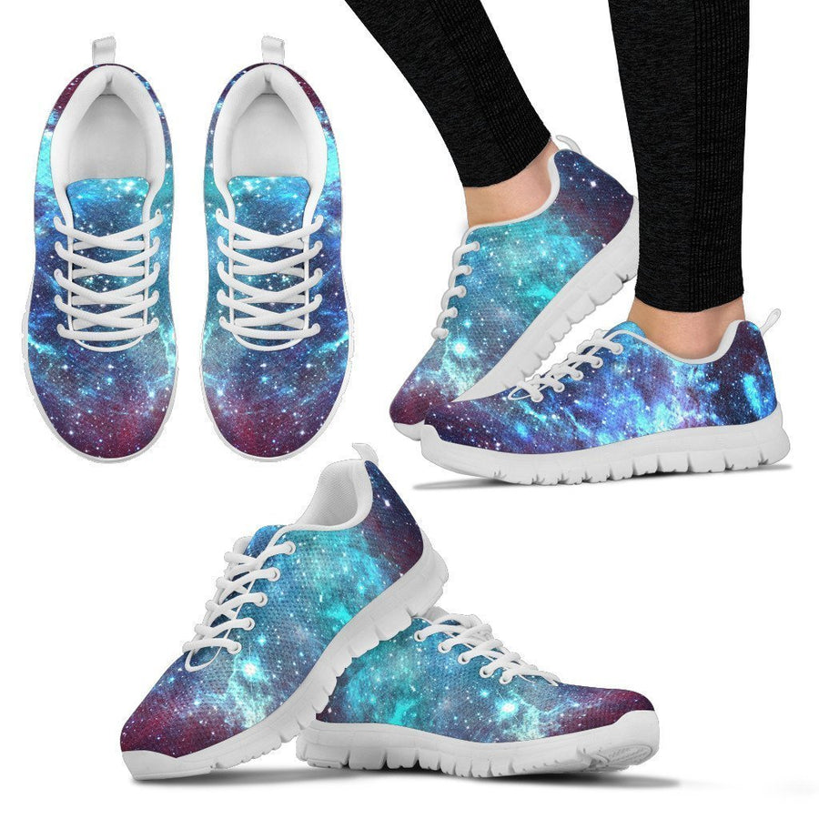 Starfield Nebula Galaxy Space Print Women's Sneakers GearFrost