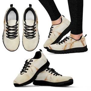 Sugar Brown Marble Print Women's Sneakers GearFrost