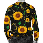 Sunflower Polygonal Pattern Print Men's Crewneck Sweatshirt GearFrost