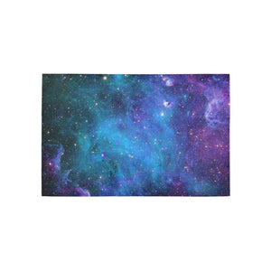 Teal Purple Stardust Galaxy Space Print 3 x 5 Indoor Area Rug GearFrost