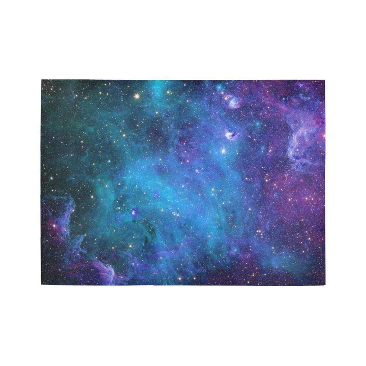 Teal Purple Stardust Galaxy Space Print 5 x 7 Indoor Area Rug GearFrost