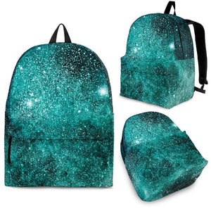 Teal Stardust Galaxy Space Print Backpack GearFrost