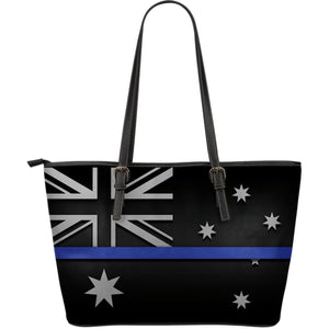 Thin Blue Line Australia Leather Tote Bag GearFrost