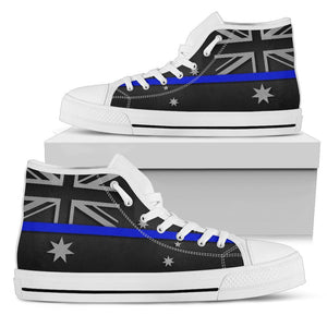 Thin Blue Line Australia Men's High Top Shoes GearFrost