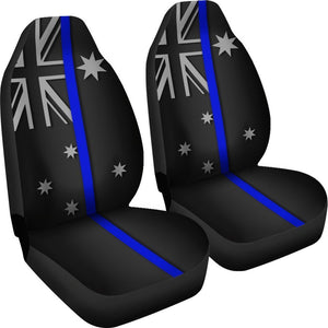 Thin Blue Line Australia Universal Fit Car Seat Covers GearFrost