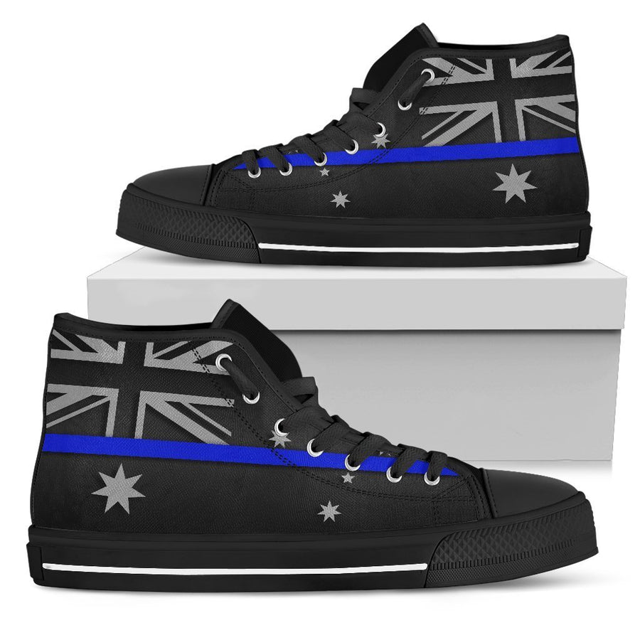 Thin Blue Line Australia Women's High Top Shoes GearFrost