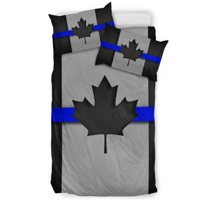 Thin Blue Line Canada Duvet Cover Bedding Set GearFrost