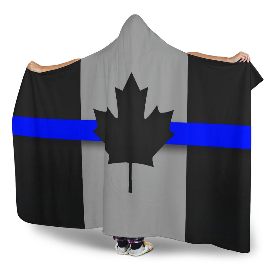 Thin Blue Line Canada Hooded Blanket GearFrost