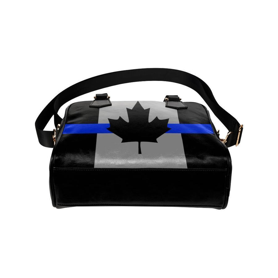 Thin Blue Line Canada Leather Shoulder Handbag GearFrost