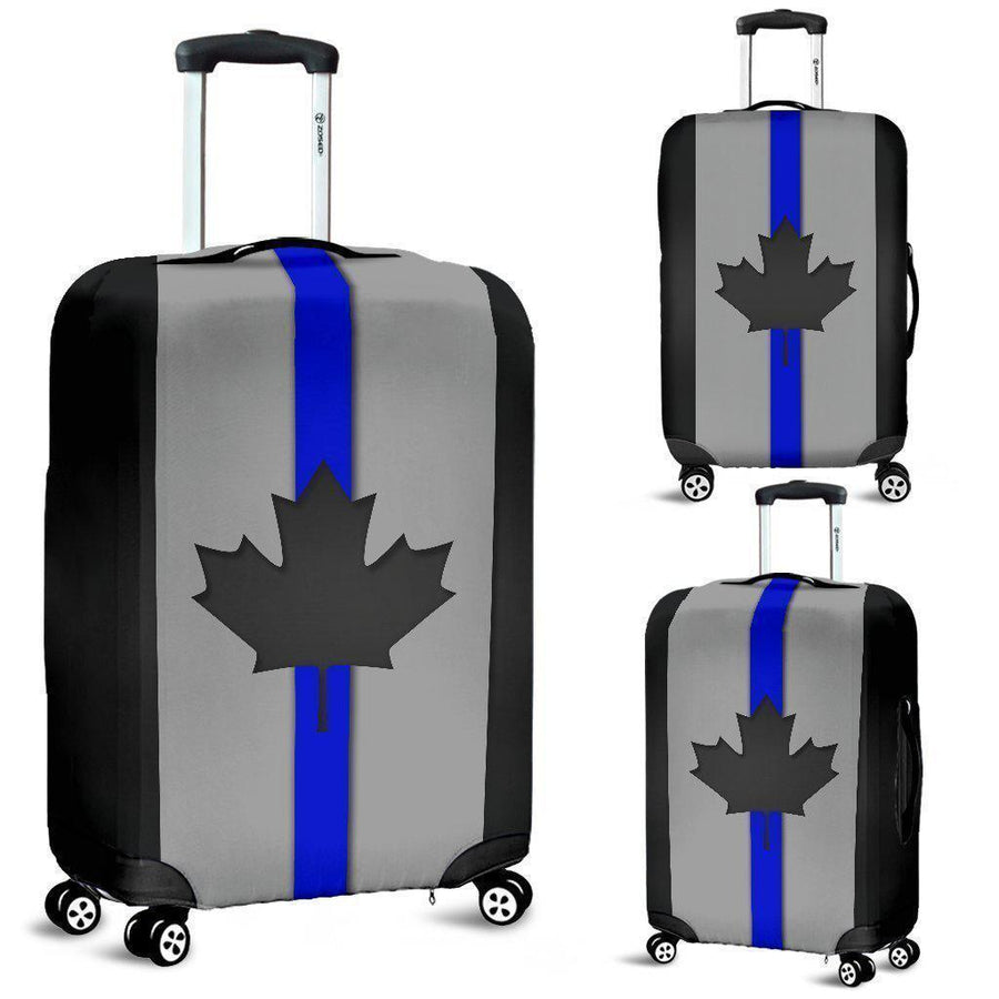 Thin Blue Line Canada Luggage Cover GearFrost