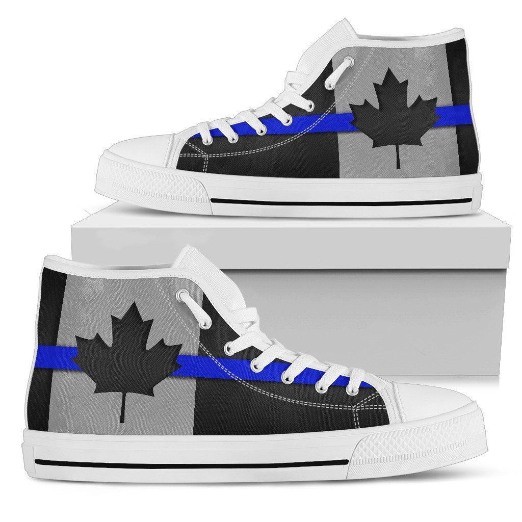 Thin Blue Line Canada Men's High Top Shoes GearFrost