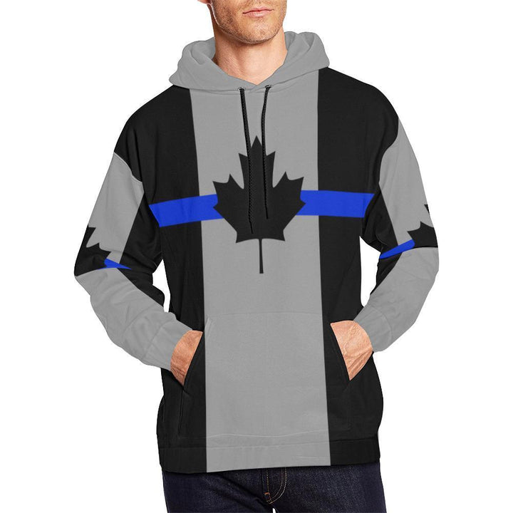 Thin Blue Line Canada Men's Pullover Hoodie GearFrost