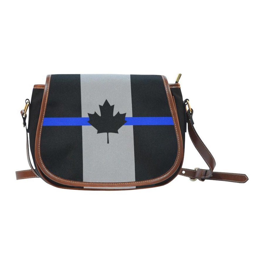 Thin Blue Line Canada Saddle Bag Crossbody Purse GearFrost