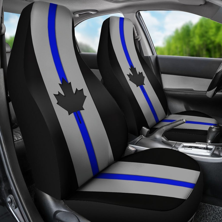 Thin Blue Line Canada Universal Fit Car Seat Covers GearFrost