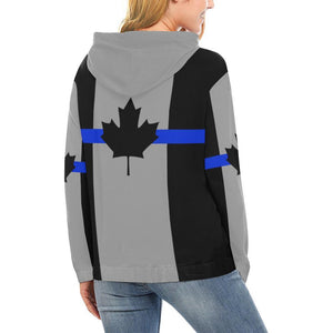 Thin Blue Line Canada Women's Pullover Hoodie GearFrost