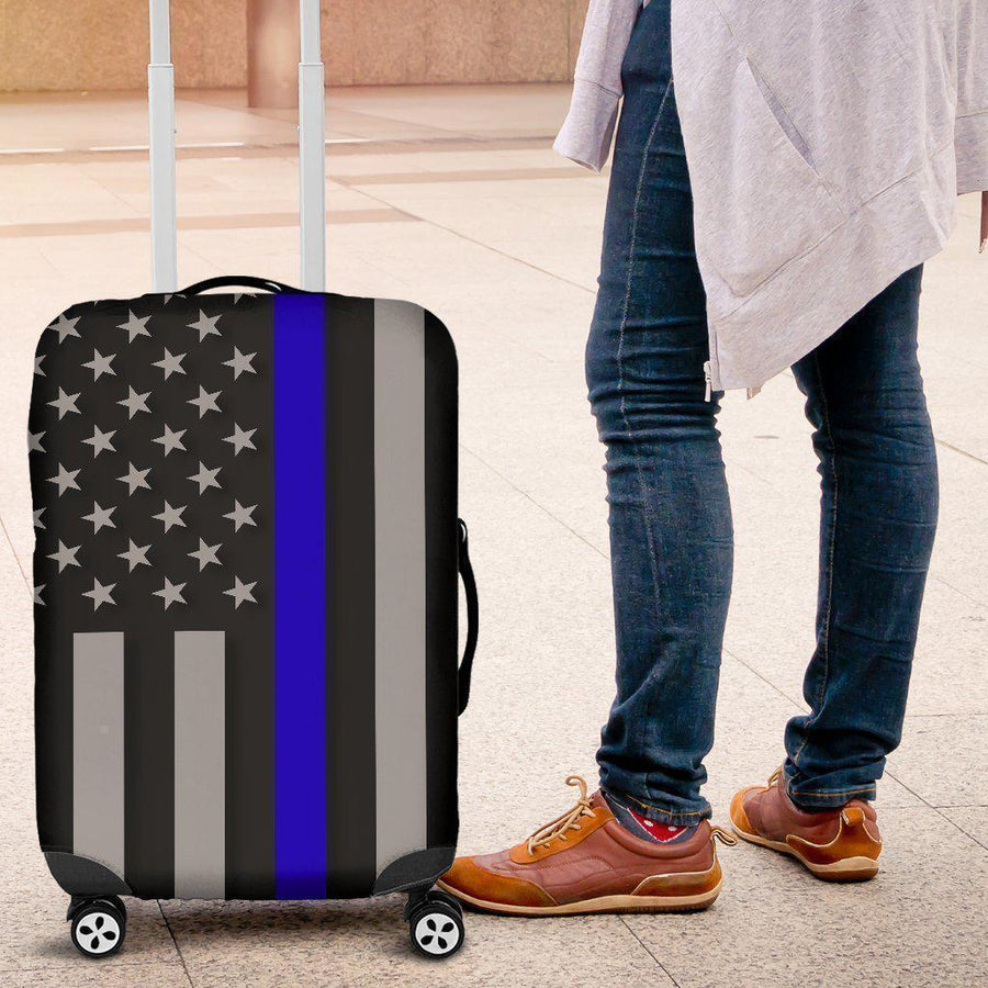 Thin Blue Line Luggage Cover GearFrost