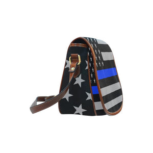 Thin Blue Line Saddle Bag Crossbody Purse GearFrost