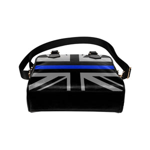 Thin Blue Line Union Jack Leather Shoulder Handbag GearFrost