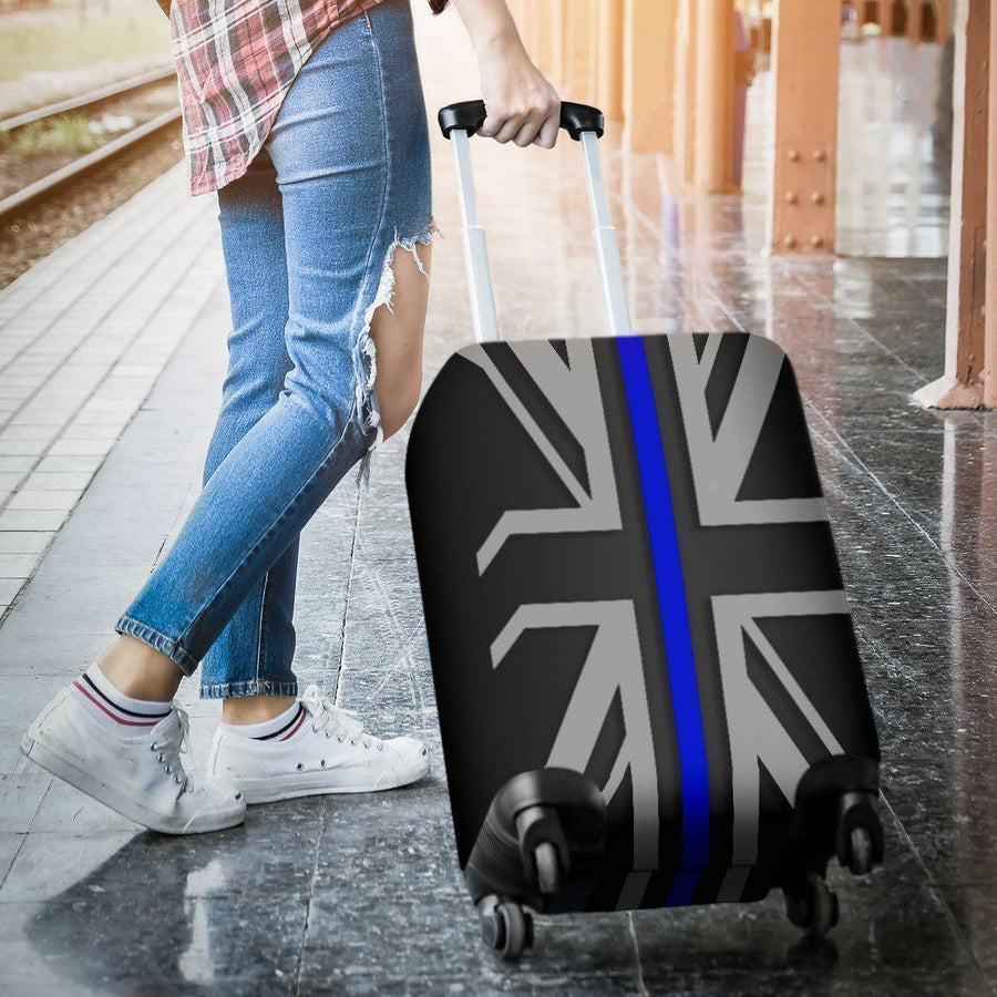 Thin Blue Line Union Jack Luggage Cover GearFrost