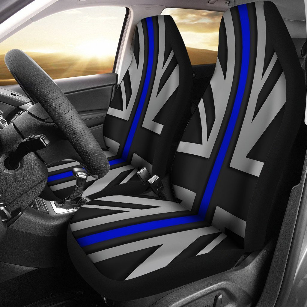 Thin Blue Line Union Jack Universal Fit Car Seat Covers Product Image 1