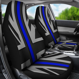Thin Blue Line Union Jack Universal Fit Car Seat Covers GearFrost