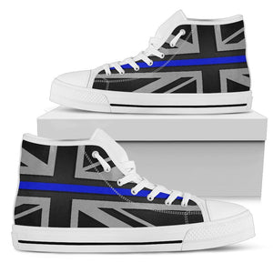 Thin Blue Line Union Jack Women's High Top Shoes GearFrost