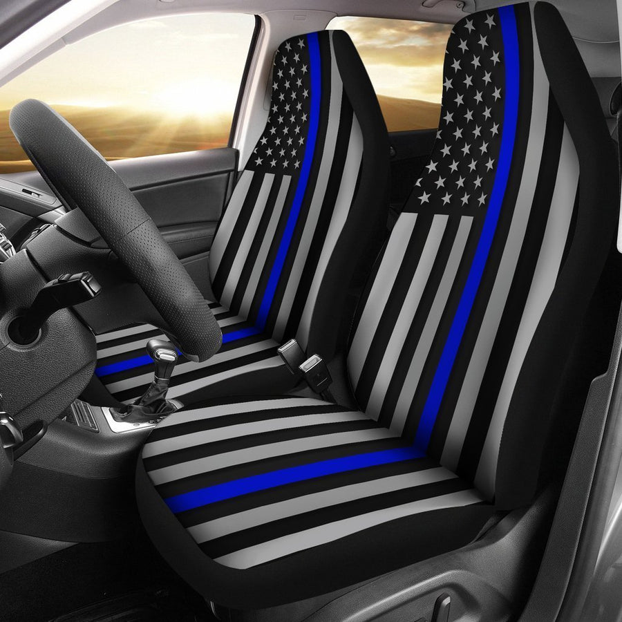 Thin Blue Line Universal Fit Car Seat Covers GearFrost
