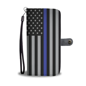 Thin Blue Line Wallet Phone Case GearFrost