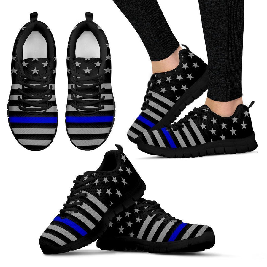 Thin Blue Line Women's Sneakers GearFrost