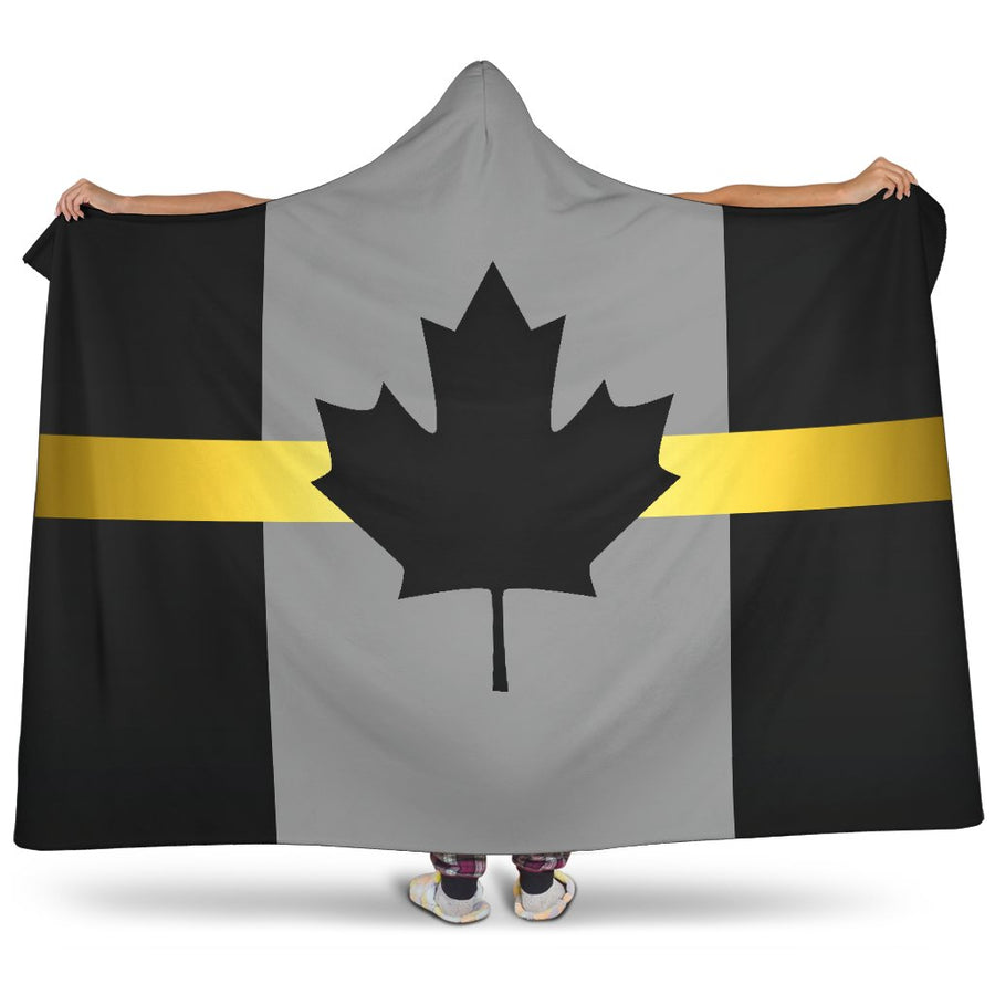Thin Gold Line Canada Hooded Blanket GearFrost