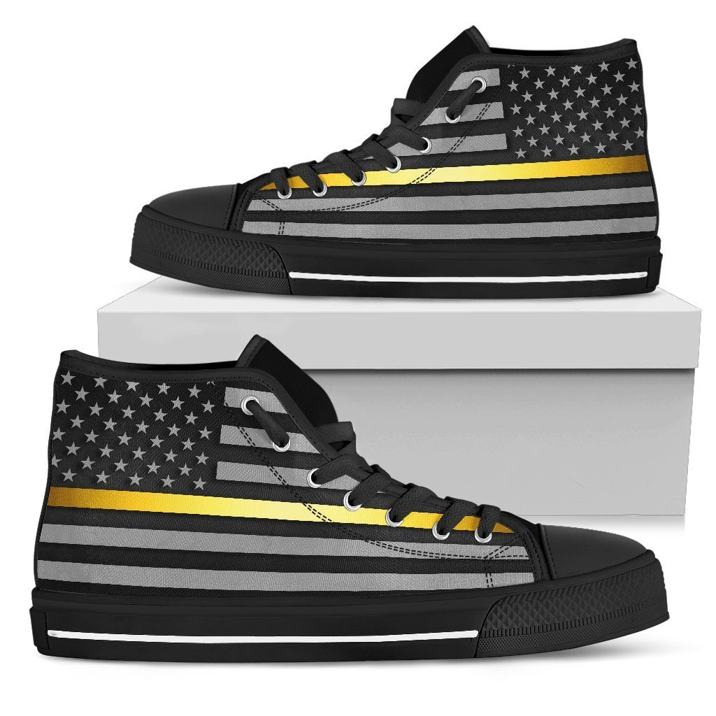 Thin Gold Line Men's High Top Shoes GearFrost