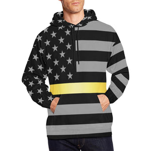 Thin Gold Line Men's Pullover Hoodie GearFrost