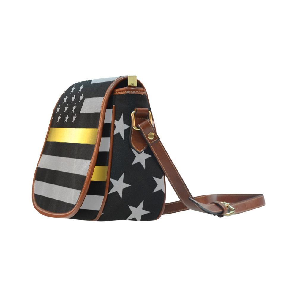 Thin Gold Line Saddle Bag Crossbody Purse GearFrost