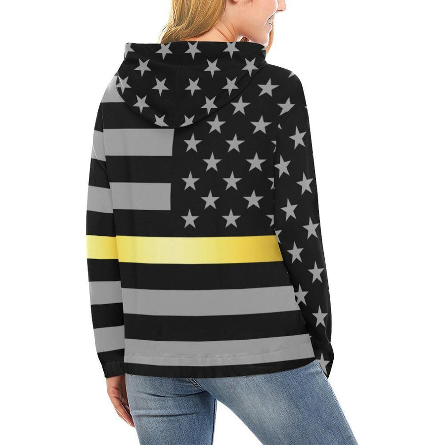 Thin Gold Line Women's Pullover Hoodie GearFrost