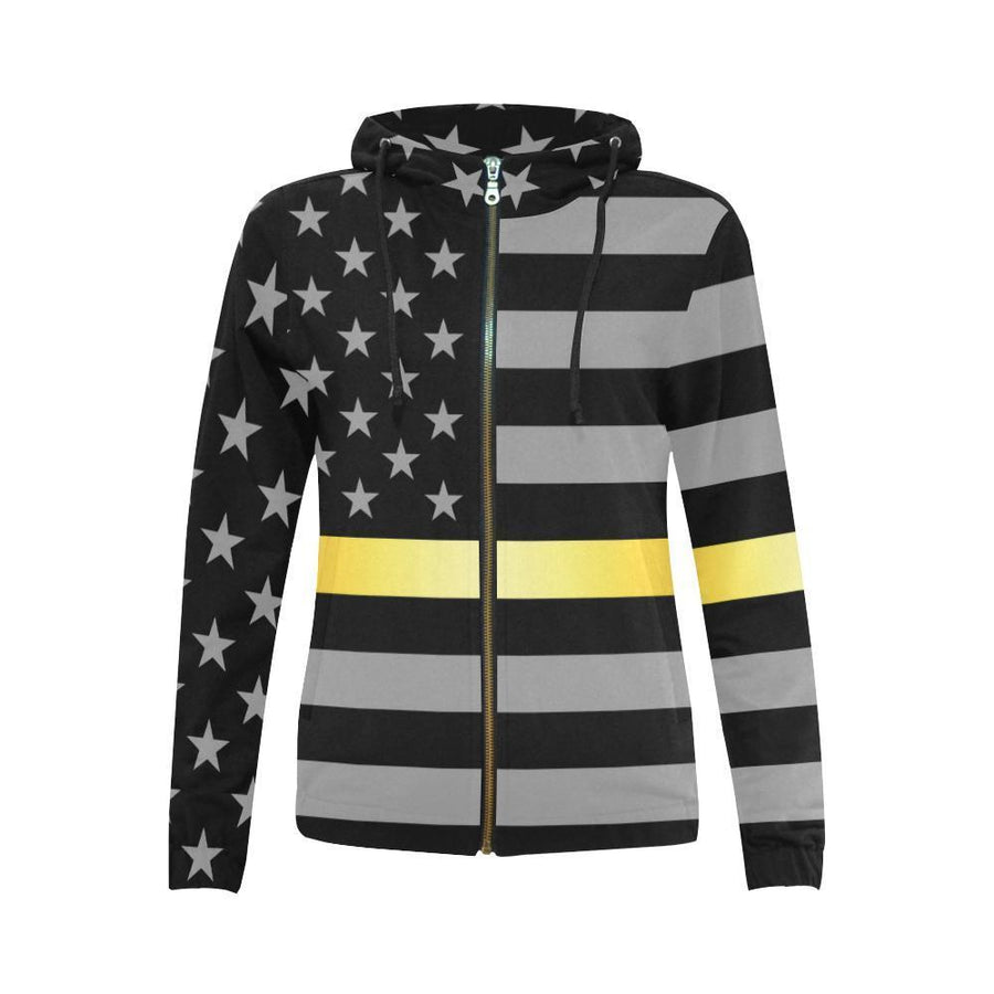 Thin Gold Line Women's Zip Up Hoodie GearFrost