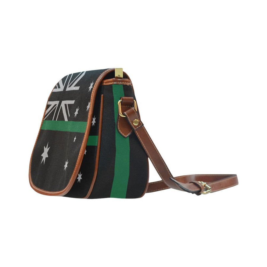 Thin Green Line Australia Saddle Bag Crossbody Purse GearFrost