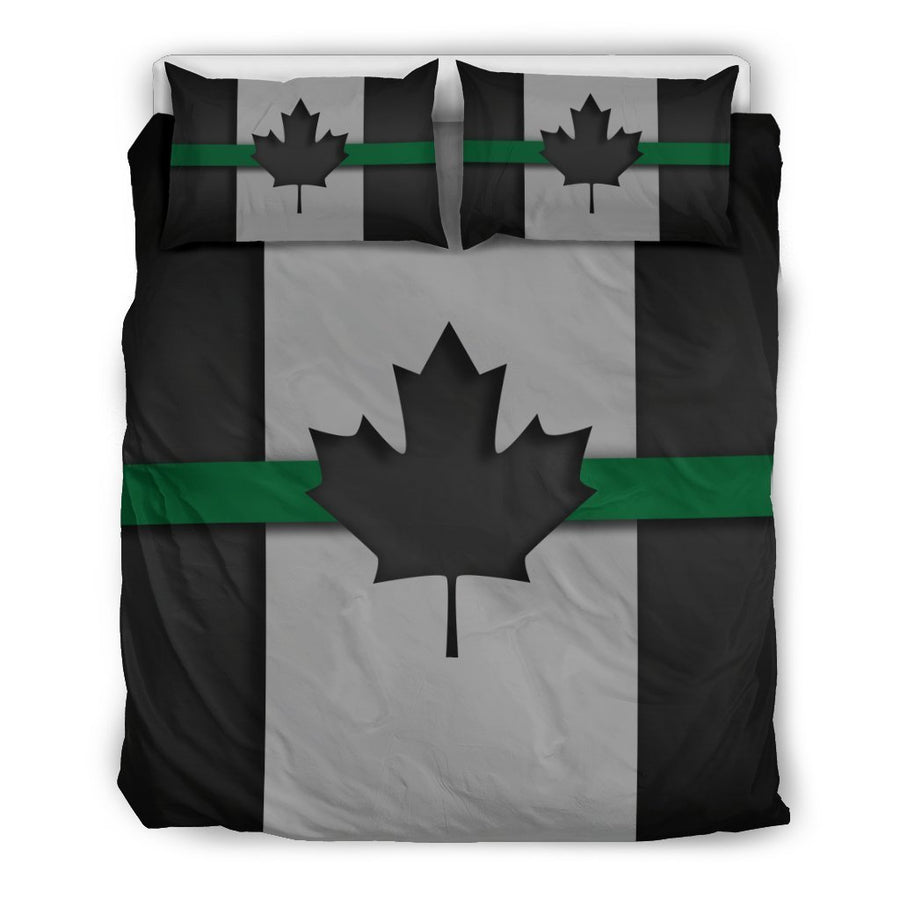 Thin Green Line Canada Duvet Cover Bedding Set GearFrost