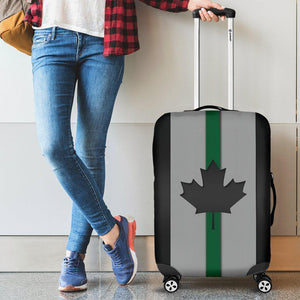 Thin Green Line Canada Luggage Cover GearFrost