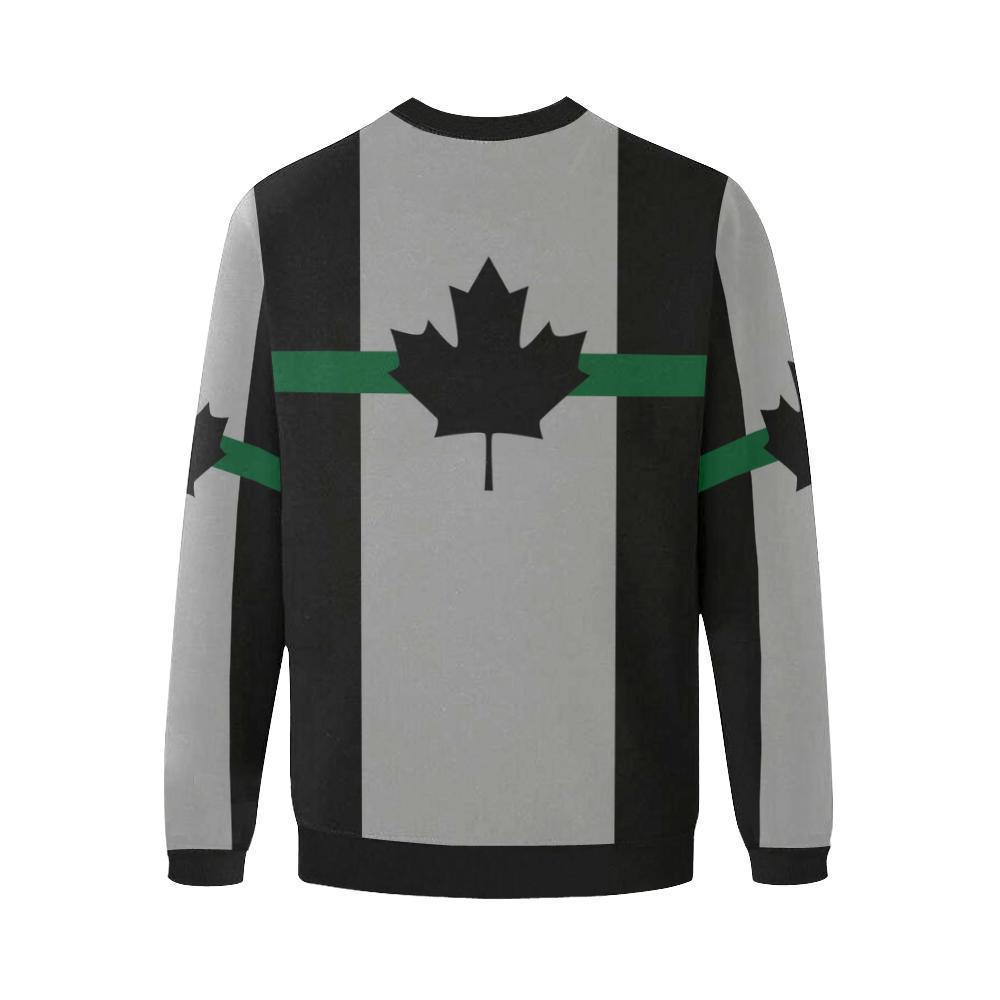 Thin Green Line Canada Men's Crewneck Sweatshirt GearFrost