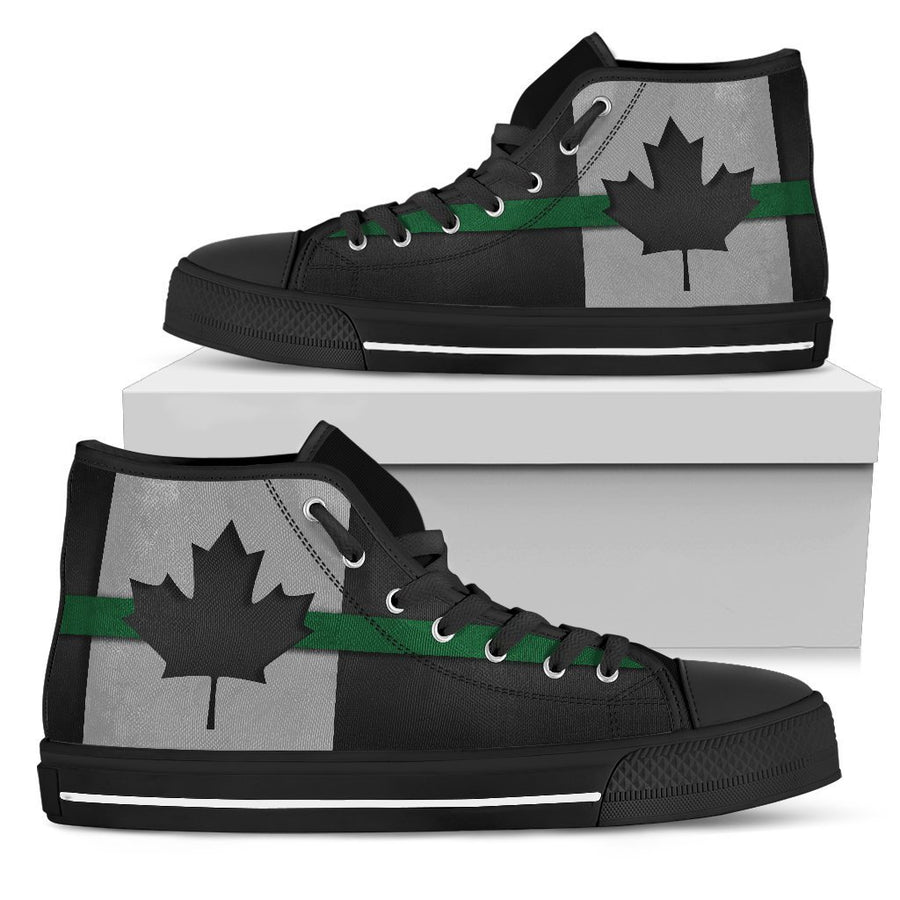 Thin Green Line Canada Men's High Top Shoes GearFrost