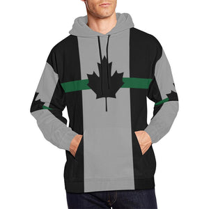 Thin Green Line Canada Men's Pullover Hoodie GearFrost