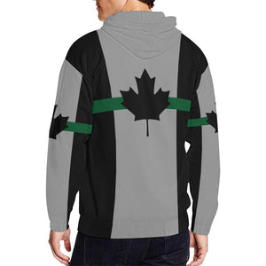Thin Green Line Canada Men's Zip Up Hoodie GearFrost