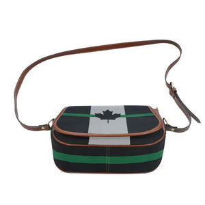 Thin Green Line Canada Saddle Bag Crossbody Purse GearFrost