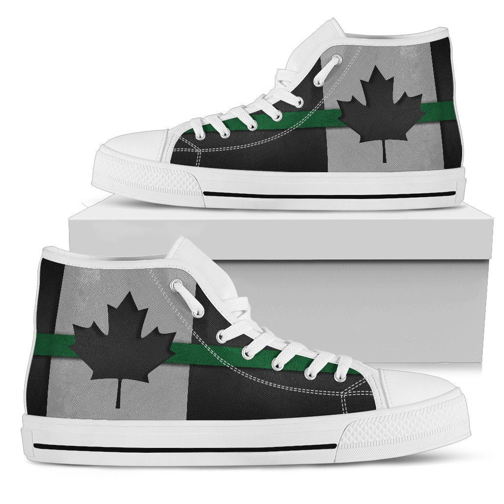 Thin Green Line Canada Women s High Top Shoes – GearFrost 758108581