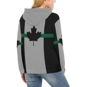Thin Green Line Canada Women's Pullover Hoodie GearFrost