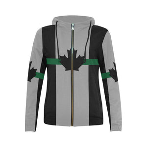 Thin Green Line Canada Women's Zip Up Hoodie GearFrost