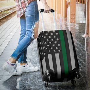 Thin Green Line Luggage Cover GearFrost