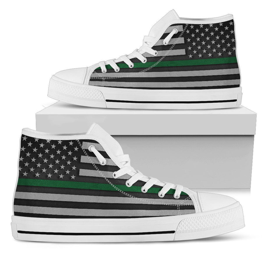 Thin Green Line Men's High Top Shoes GearFrost