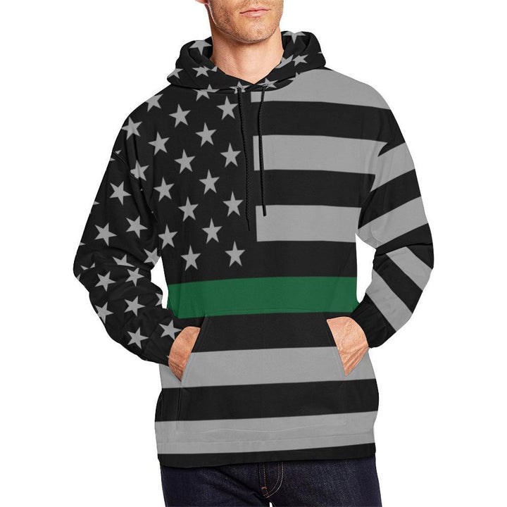 Thin Green Line Men's Pullover Hoodie GearFrost