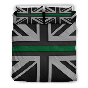 Thin Green Line Union Jack Duvet Cover Bedding Set GearFrost